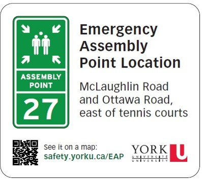Image of an Emergency Assembly Point Location sticker